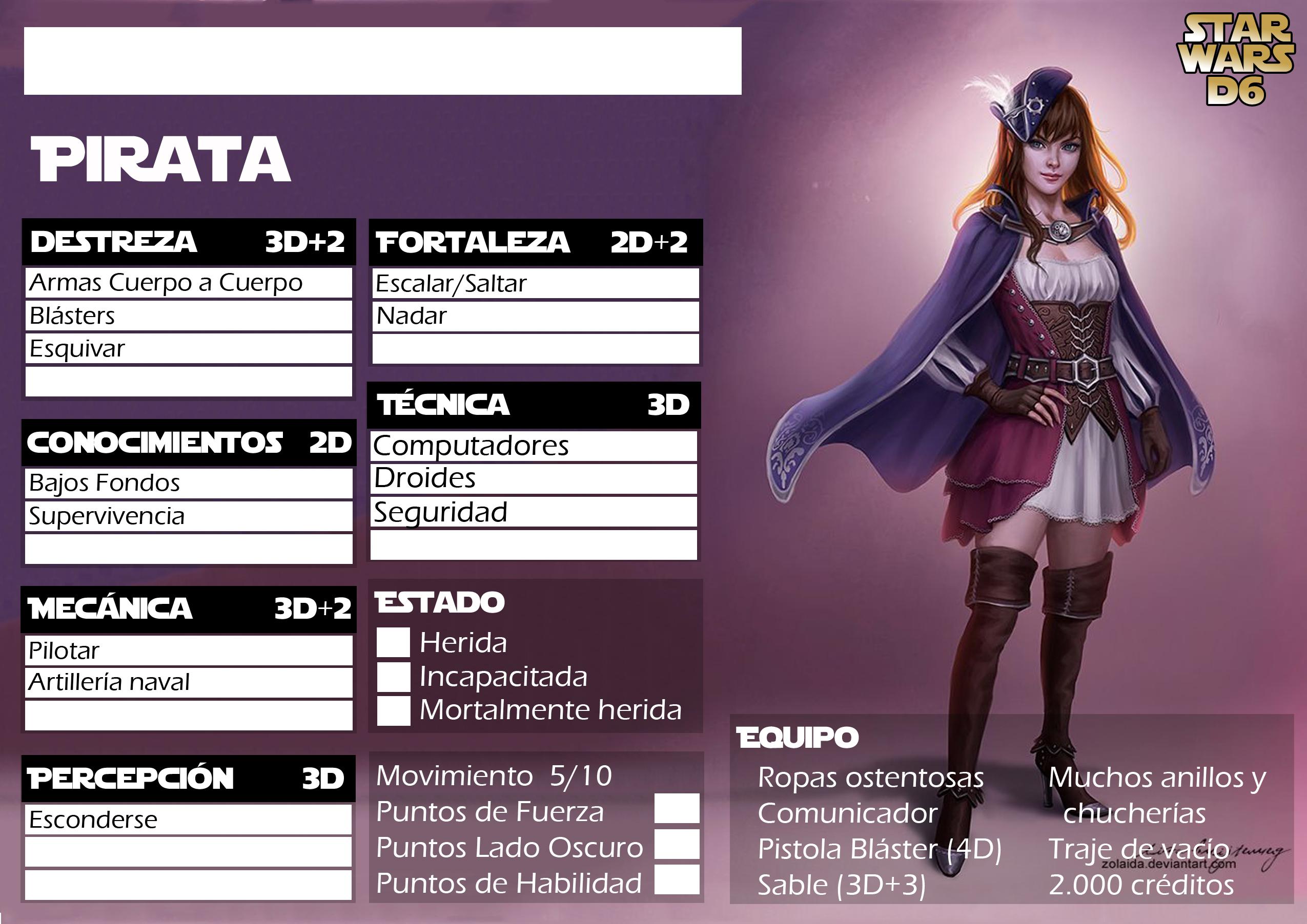 Ficha de Pirata